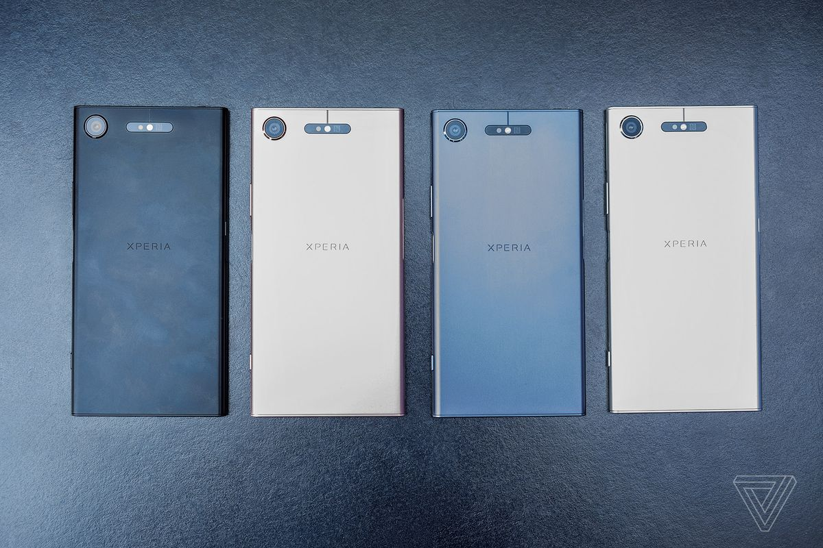 Sony Xperia XZ1 in four colors