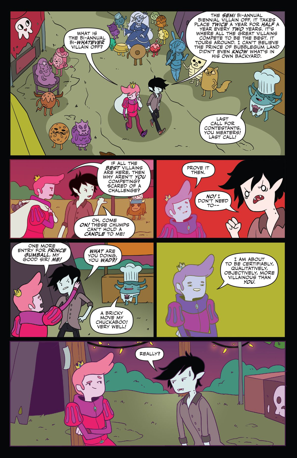 Prince Gumball finds out about the villain contest