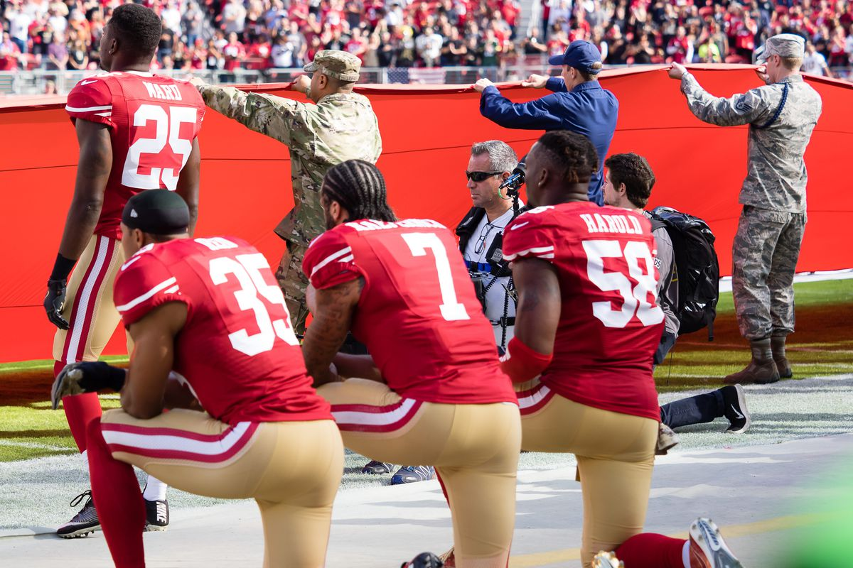 How we went from Colin Kaepernick s protest to a new NFL anthem policy  that s now on hold 04b8b50b3