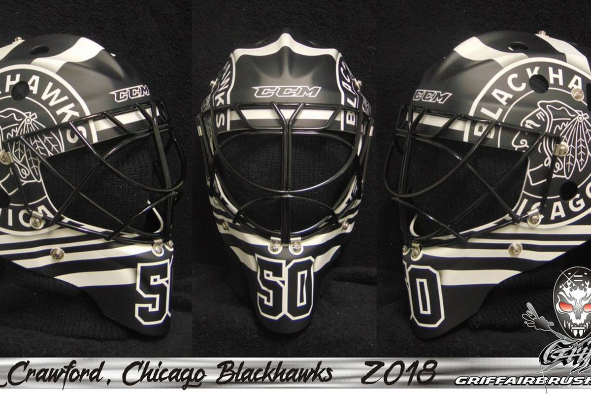 Blackhawks  Corey Crawford to wear retro goalie mask for 2019 Winter Classic 8b015eee5b7