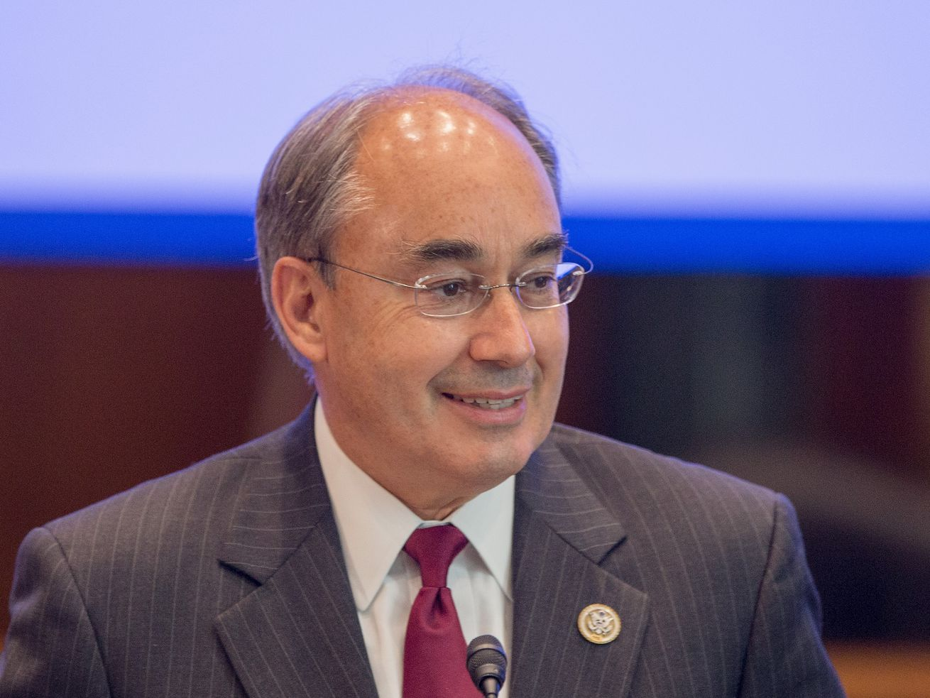 House of Representative Bruce Poliquin of Maine speaks on Capitol Hill in September.