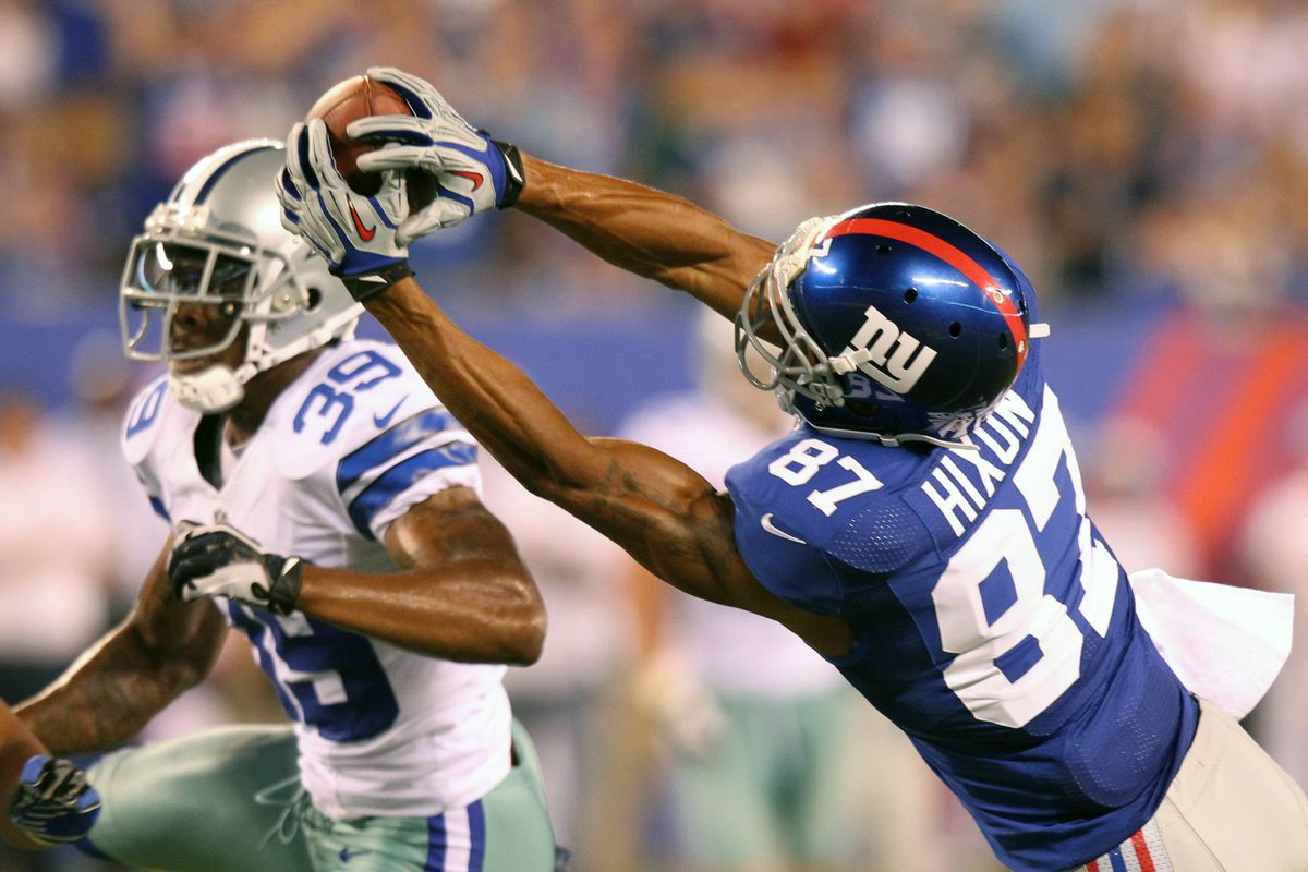 Domenik Hixon was one of the few New York Giants worthy of praise after Wednesday night's loss to the Dallas Cowboys. Anthony Gruppuso-US PRESSWIRE