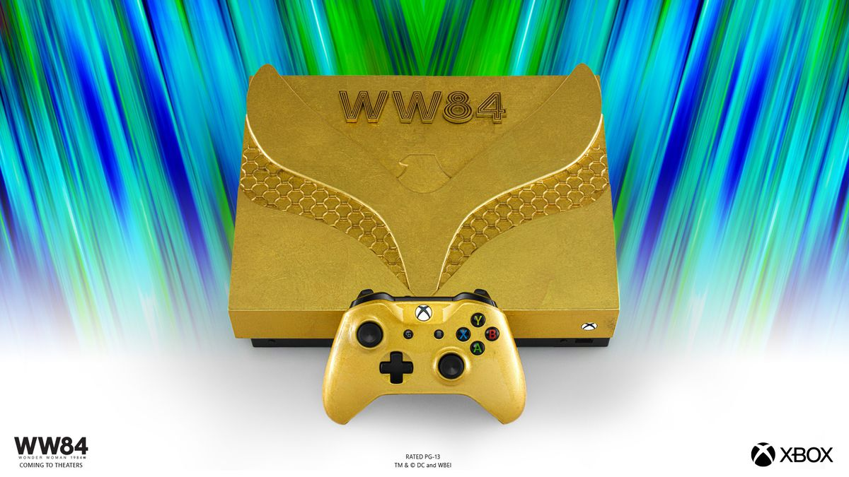 a golden xbox with an eagle on it