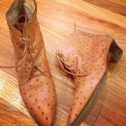 Brown croc ankle boots: $46. Size 9