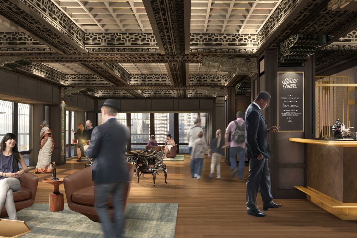Smith Tower Observation Deck Reopening With A Speakeasy