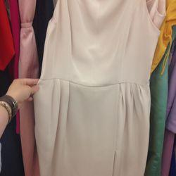 Pale pink cocktail dress, $250