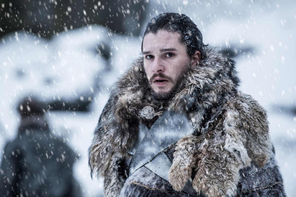 Game of Thrones 706 - Jon Snow in fur coat north of the Wall