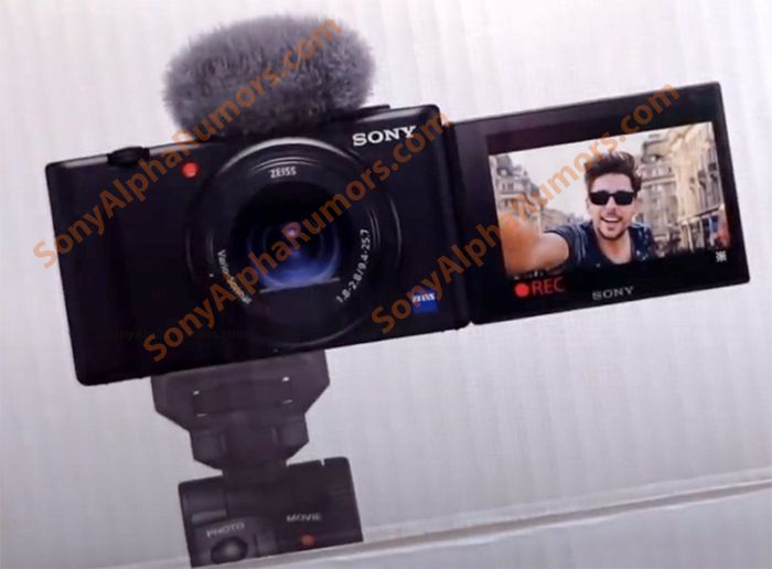 Leaked image of the Sony ZV-1