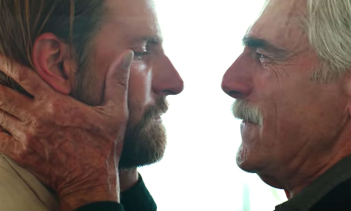 Bradley Cooper and Sam Elliott in A Star Is Born.