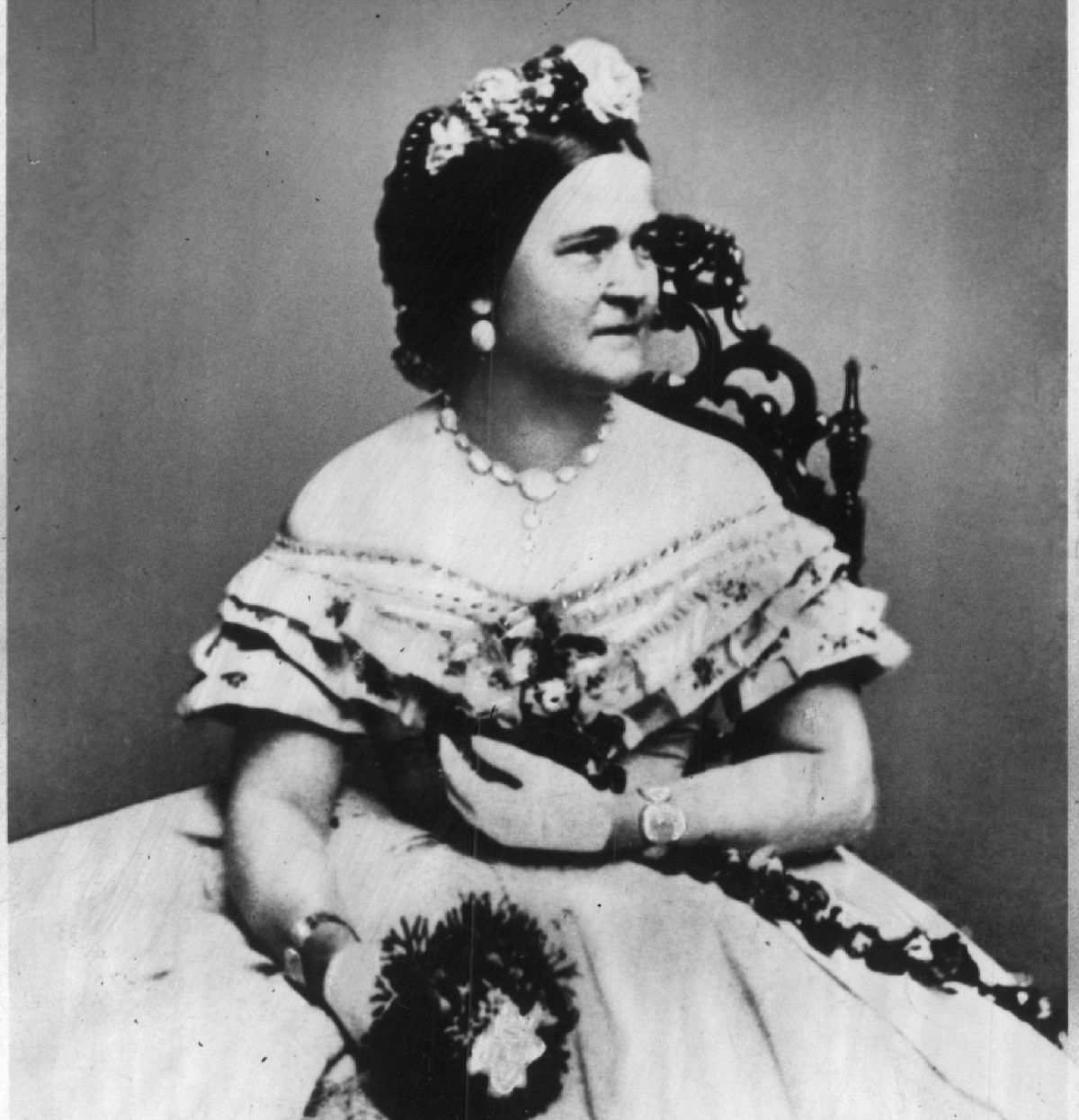 Mary Todd Lincoln, photographed in Washington, D.C. by Mathew Brady in January 1862