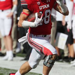 Utah Utes wide receiver Britain Covey runs the ball during game against Idaho State in Salt Lake City on Saturday, Sept. 14, 2019.