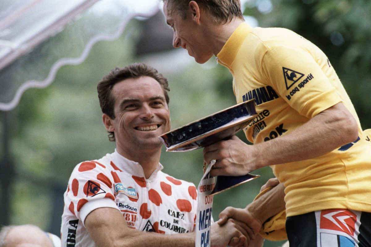 89f78ece80e3 After the madness  LeMond makes nice for the public with Hinault AFP Getty  Images Tour de France