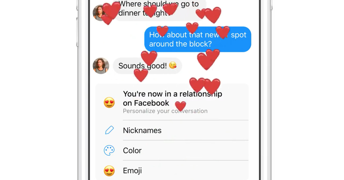 photo image Facebook Messenger will try to be the third wheel in your new relationship