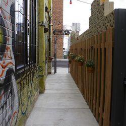 The alley entryway