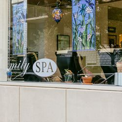 """<b>↑</b>If you're in need of a manicure before spending the afternoon dancing at Warm Up or want to unwind after feeding your brain with all that art by indulging in a massage, head to <b><a href="""" http://www.emilysalonspa.com/"""">Emily Salon and Spa</a></b"""