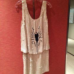 Armani white scorpion dress (still has $8,500 price tag!) // size: 2-4 // $995