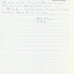 Mark Hofmann's 1988 letter to the Utah Board of Pardons and Parole.