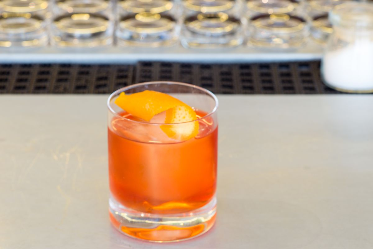 A negroni from NY restaurant Boulud Sud.