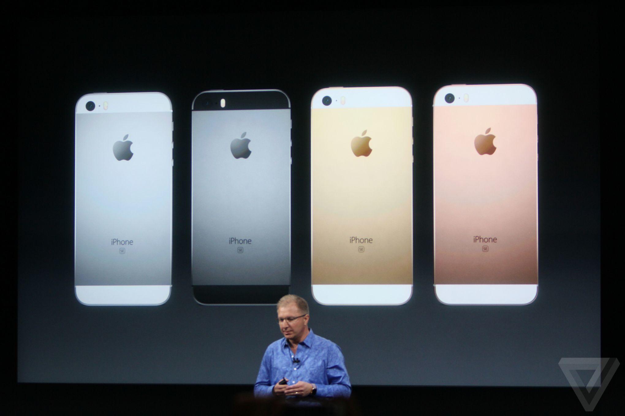 Apple iPhone SE announcement photos