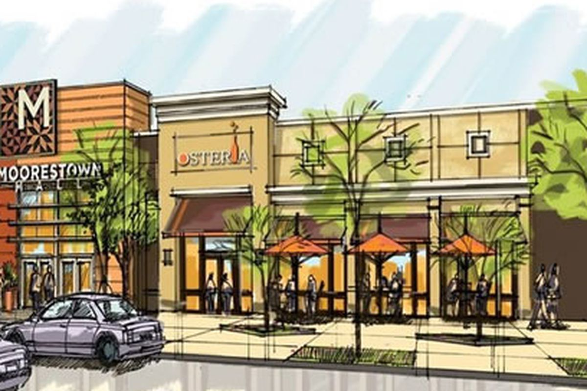 A rendering of Osteria at the mall.