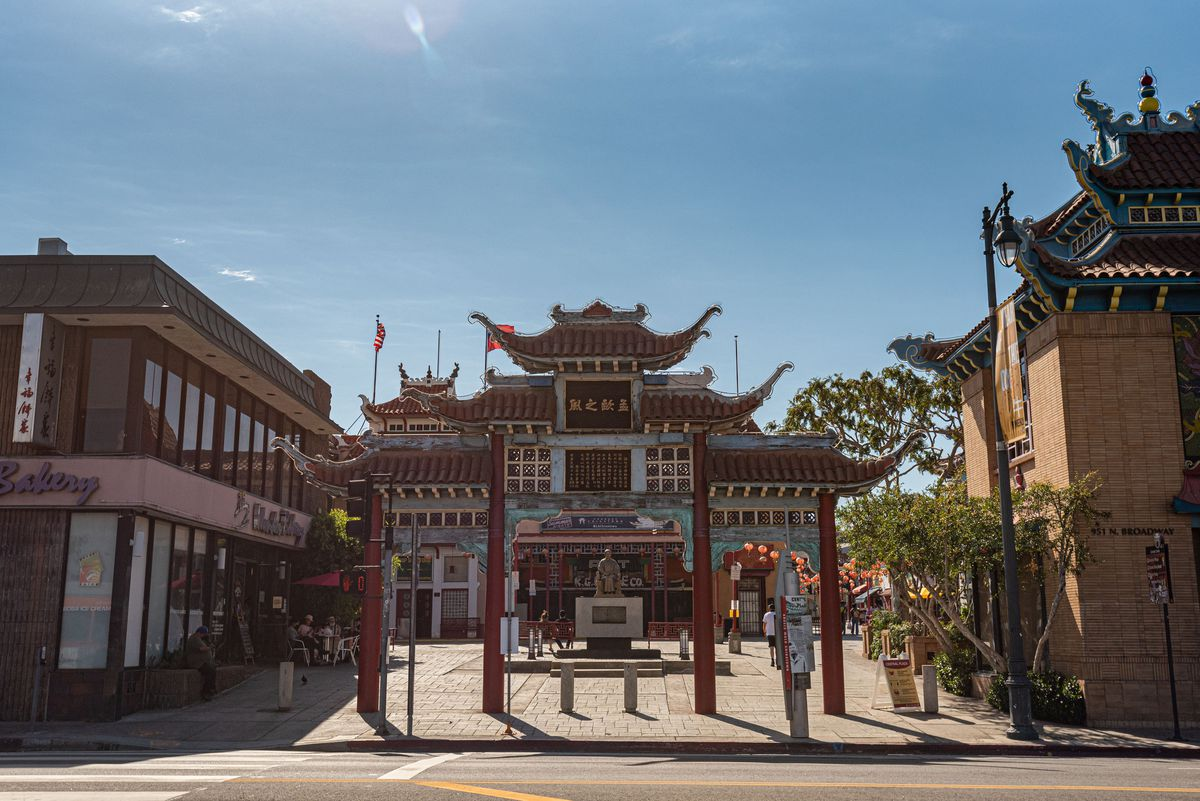 Entrance to Chinatown's Central Plaza.