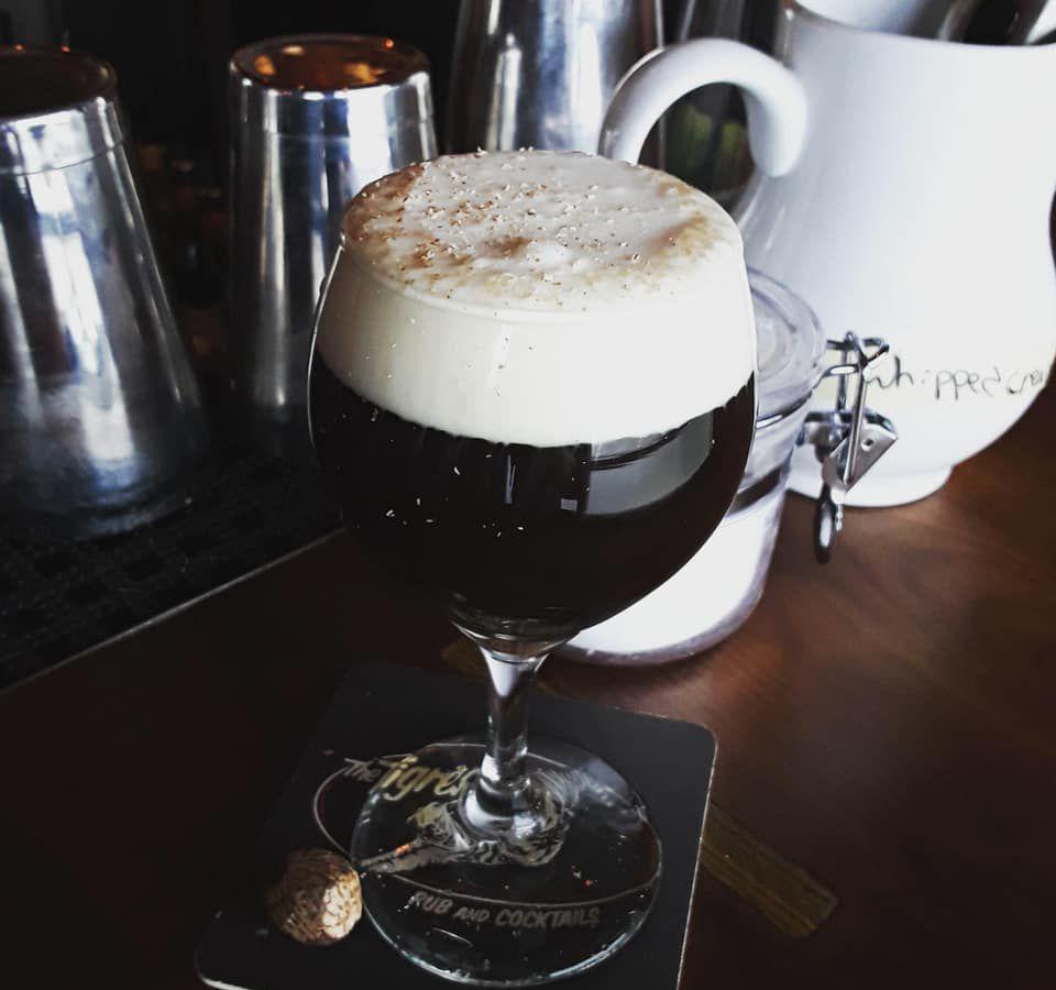 The Irish coffee from Tigress Pub