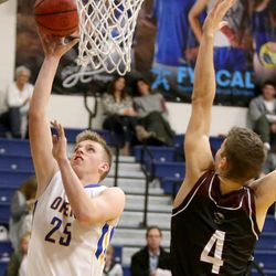 Orem plays the British Columbia Christian Panthers in a Vivint Great Western Shootout basketball game at Orem High School in Orem on Friday, Dec. 8, 2017. Orem won 63-56.