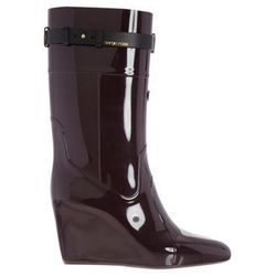 """<strong>Sergio Rossi</strong> Wedge Rain Boot, <a href=""""http://www.barneys.com/on/demandware.store/Sites-BNY-Site/default/Product-Show?pid=502832831&q=rain&index=15"""">$350</a> at Barneys New York"""