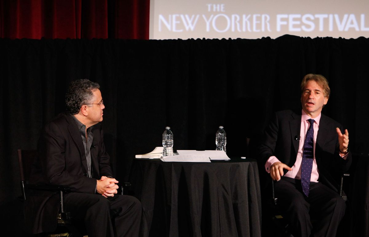 Jeffrey Toobin and Barry Scheck at the New Yorker Festival in 2011. (Getty Images for The NewYorker)