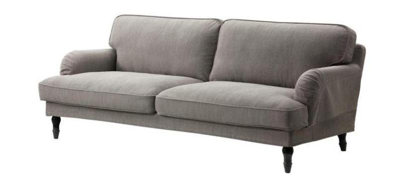 Plus, gray two-seat sofa.