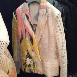 Cream honeycomb jacket, $448 (originally $1,790)