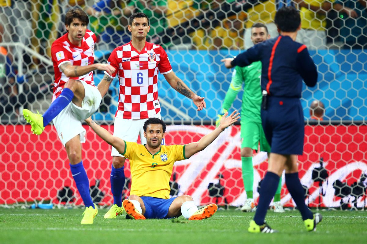 Brazil was awarded what appeared to be a soft penalty