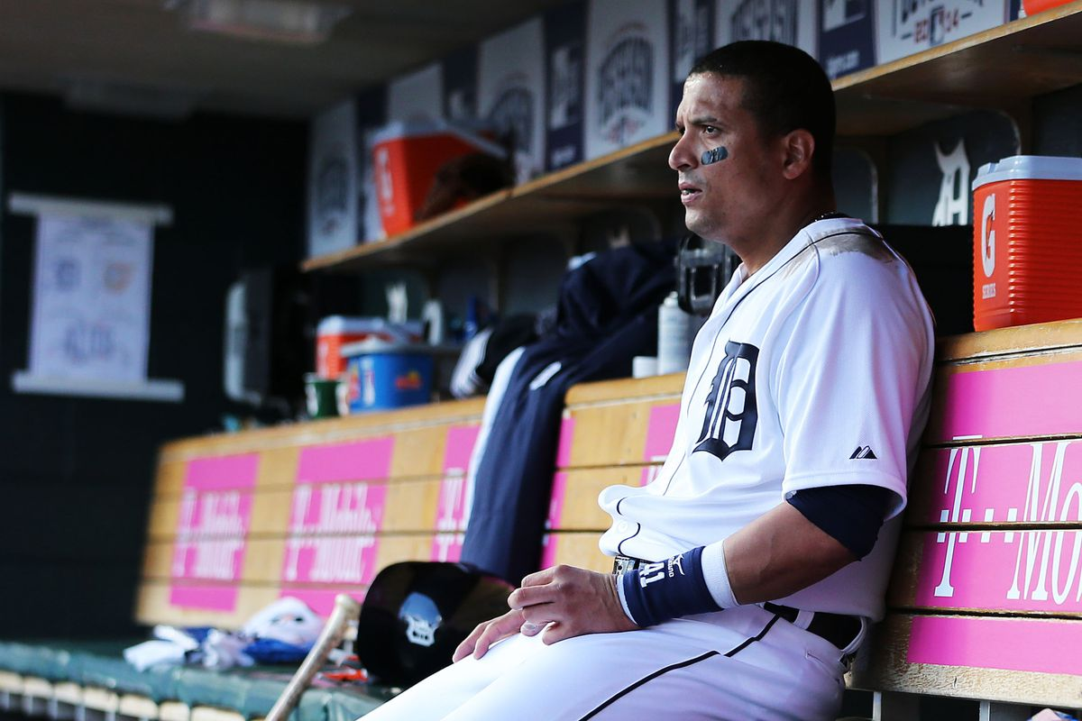 Victor Martinez, presumably thinking about getting away from his loser teammates.