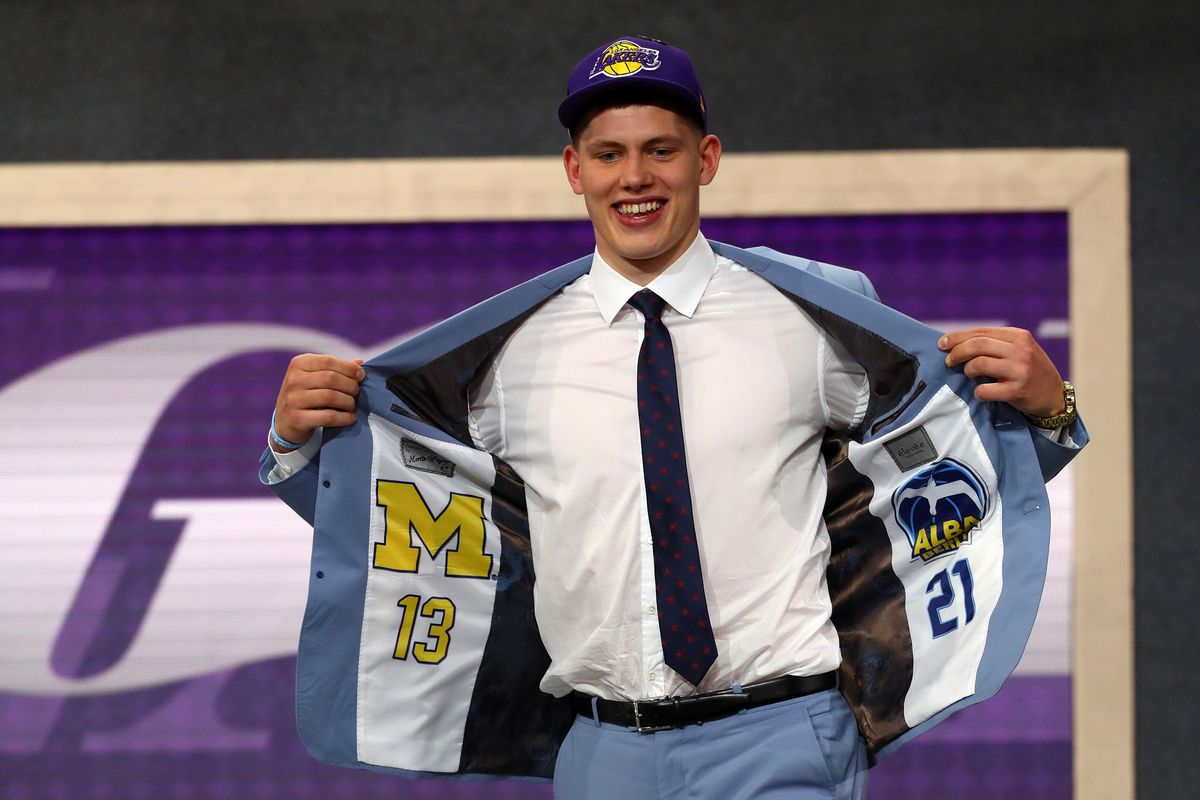 01182c965e2 Lakers select with Moritz Wagner with the 25th pick in the 2018 NBA Draft