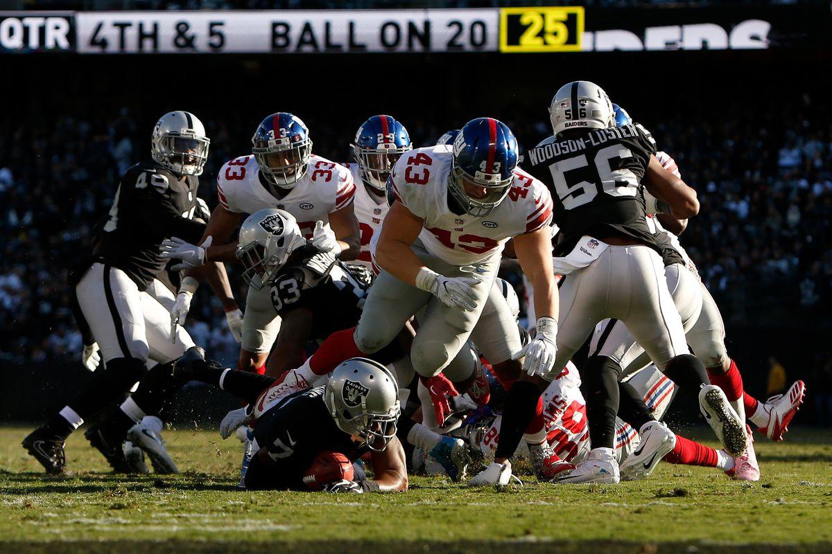 New York Giants vs Oakland Raiders