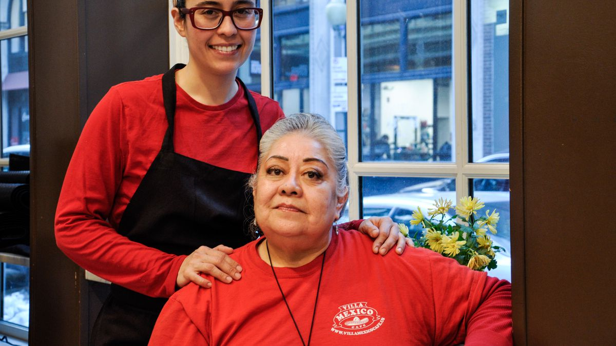 Bessie (left) and Julie King of Villa Mexico Cafe