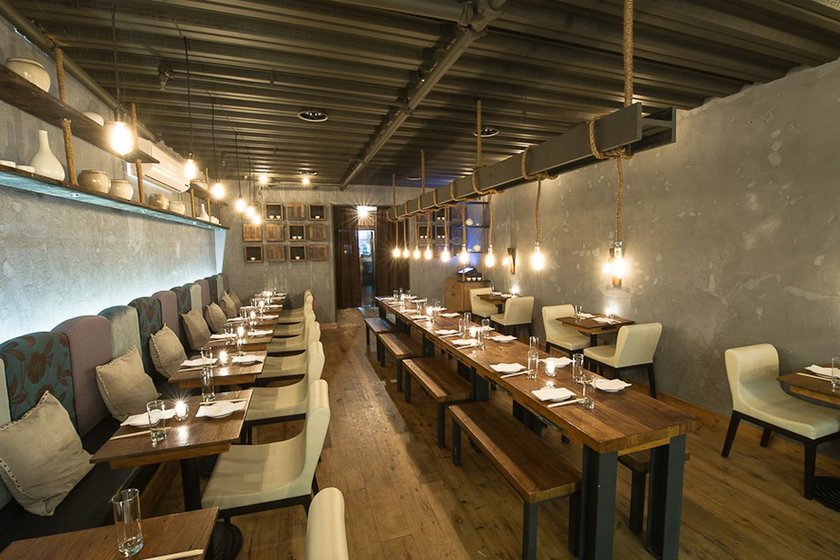 [Hanjan, an excellent Korean restaurant near the Flatiron.  Great choice for date night or a solo dinner at the bar.]