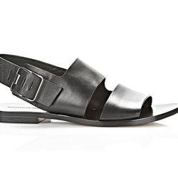 "<b>Alexander Wang</b> Eva Sandal, <a href=""http://www.alexanderwang.com/shop/womens/shoes/new-arrivals/301116s14/eva-sandal"">$525</a>"