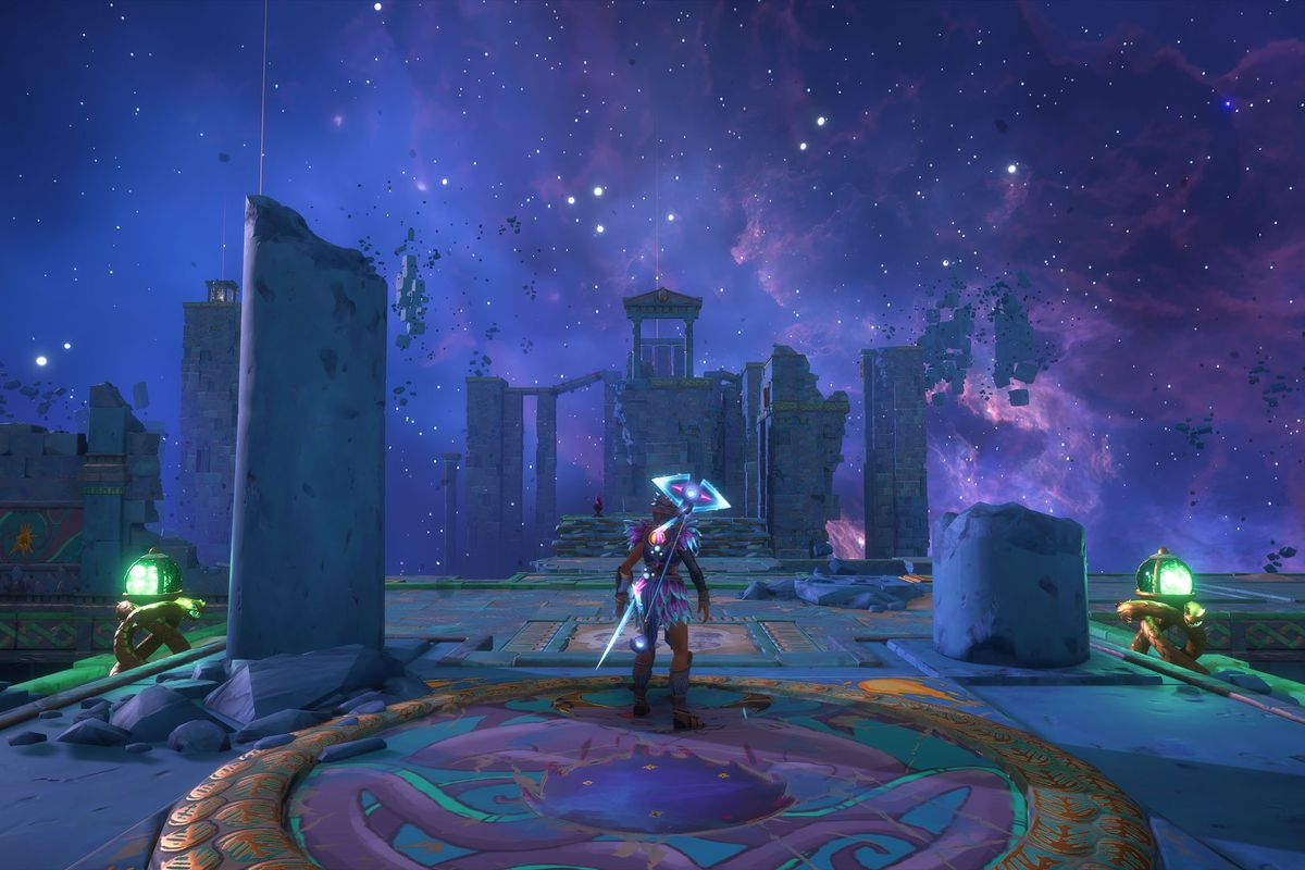 The entrance to the Mastering Phosphor's Clone Vault of Tartaros in Immortals Fenyx Rising
