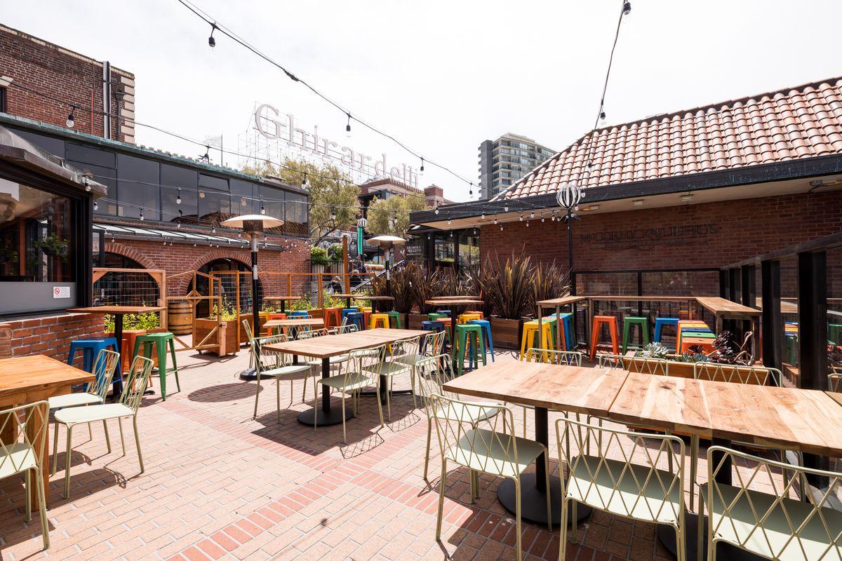 The patio at Barrio Ghirardelli Square
