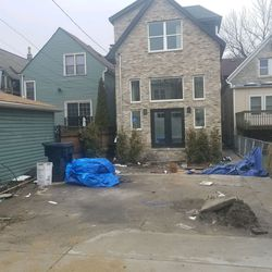 A neighbor said he took this photo of the back yard at 2123 W. Thomas a day after the show aired in early February.   Provided/Tony Ruiz