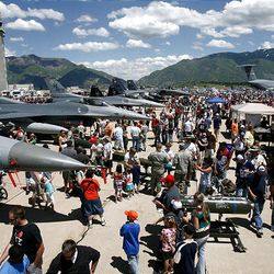Thousands turn out for the Hill Air Force Base air show Saturday.