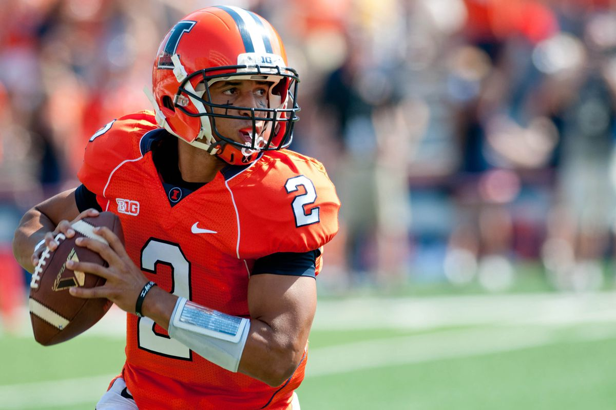Illinois quarterback Nathan Scheelhaase will likely need to have a career day to hang with Washington on Saturday.