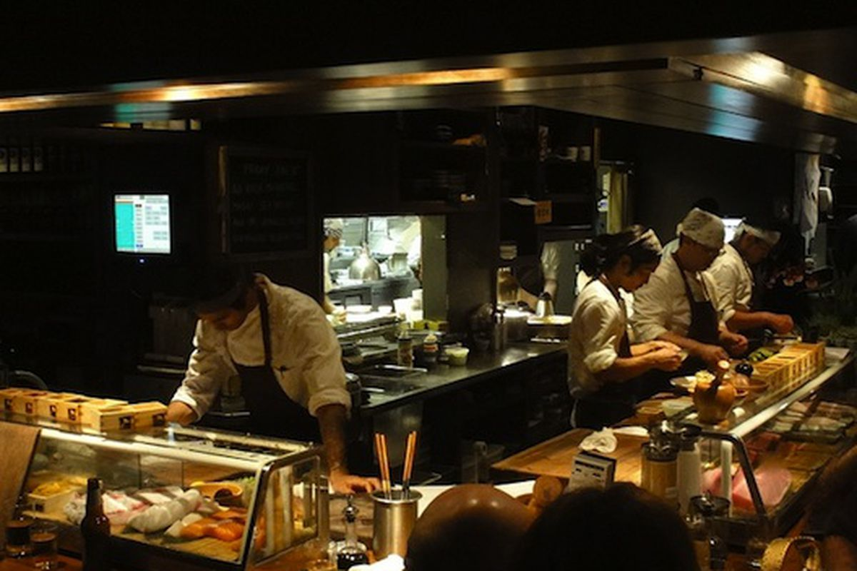 Sushi chefs at Uchi.