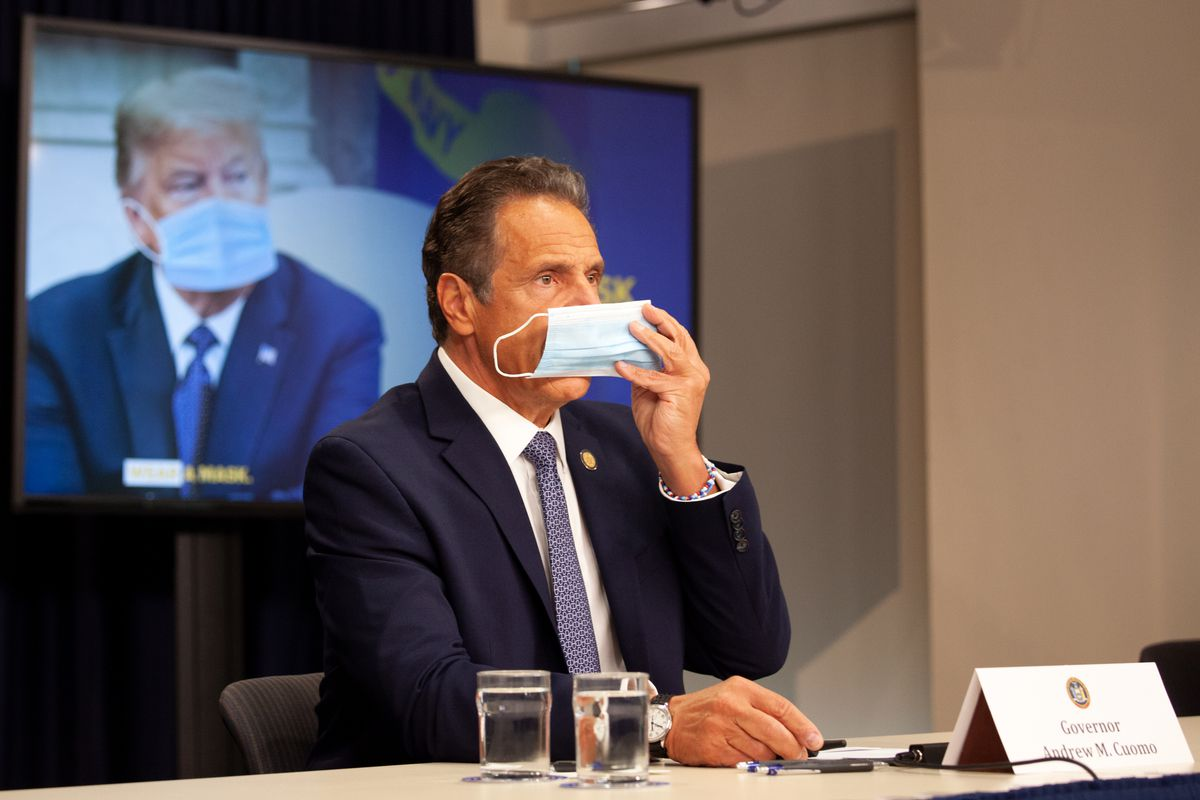 Gov. Andrew Cuomo implored President Donald Trump to wear a mask during the coronavirus outbreak, July 1, 2020.