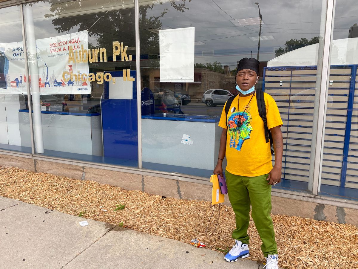 Anquita Ward, 35, said she hasn't received mail at home for two weeks and was at the Auburn Park Post Office, 8345 S. Ashland Ave., trying to retrieve a package Tuesday.