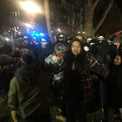 """Salt Lake police arrested 16 people participating in what officers described as an """"occupy-type protest"""" at Washington Square in downtown Salt Lake City late Saturday, Jan. 5, 2020, and early Sunday."""