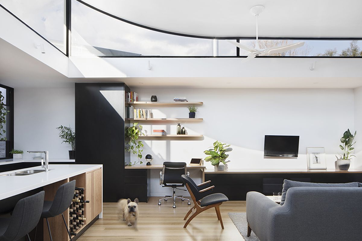 modern Aussie house with lifted roof