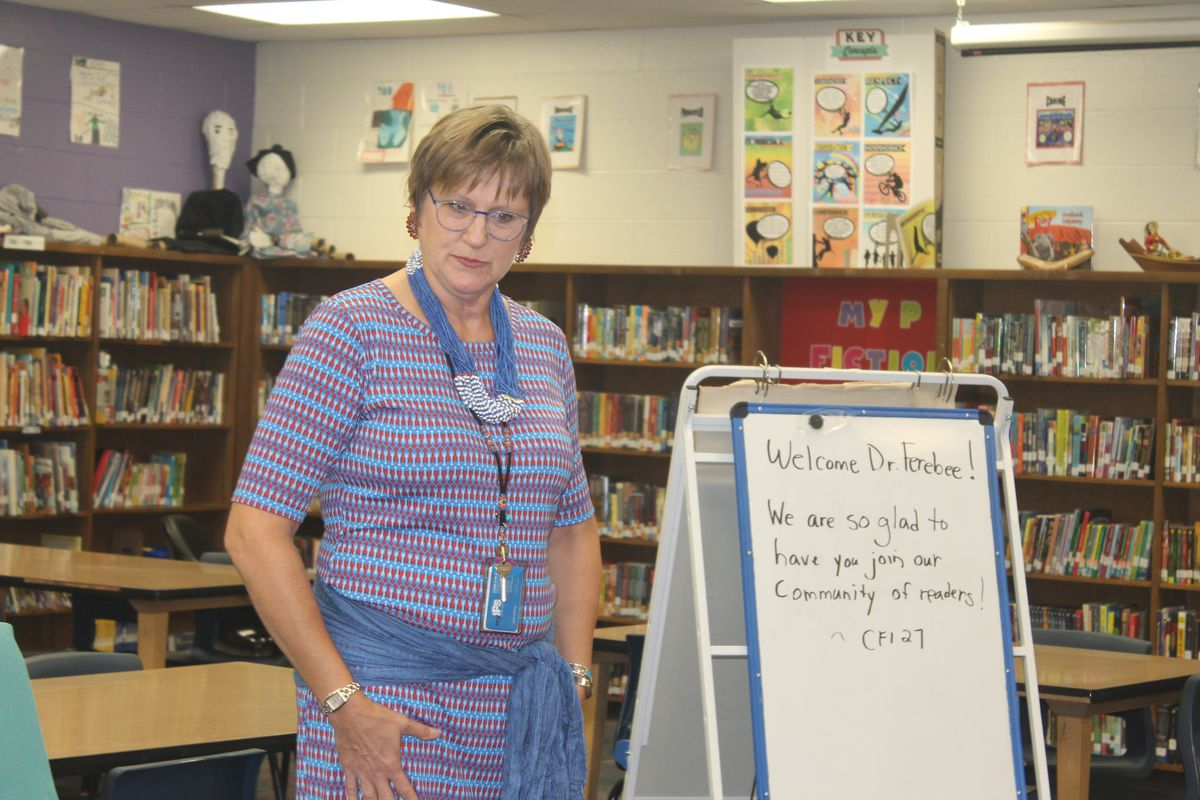 Kathleen Rauth, media specialist at CFI School 27, was named IPS's 2018 Teacher of the Year.
