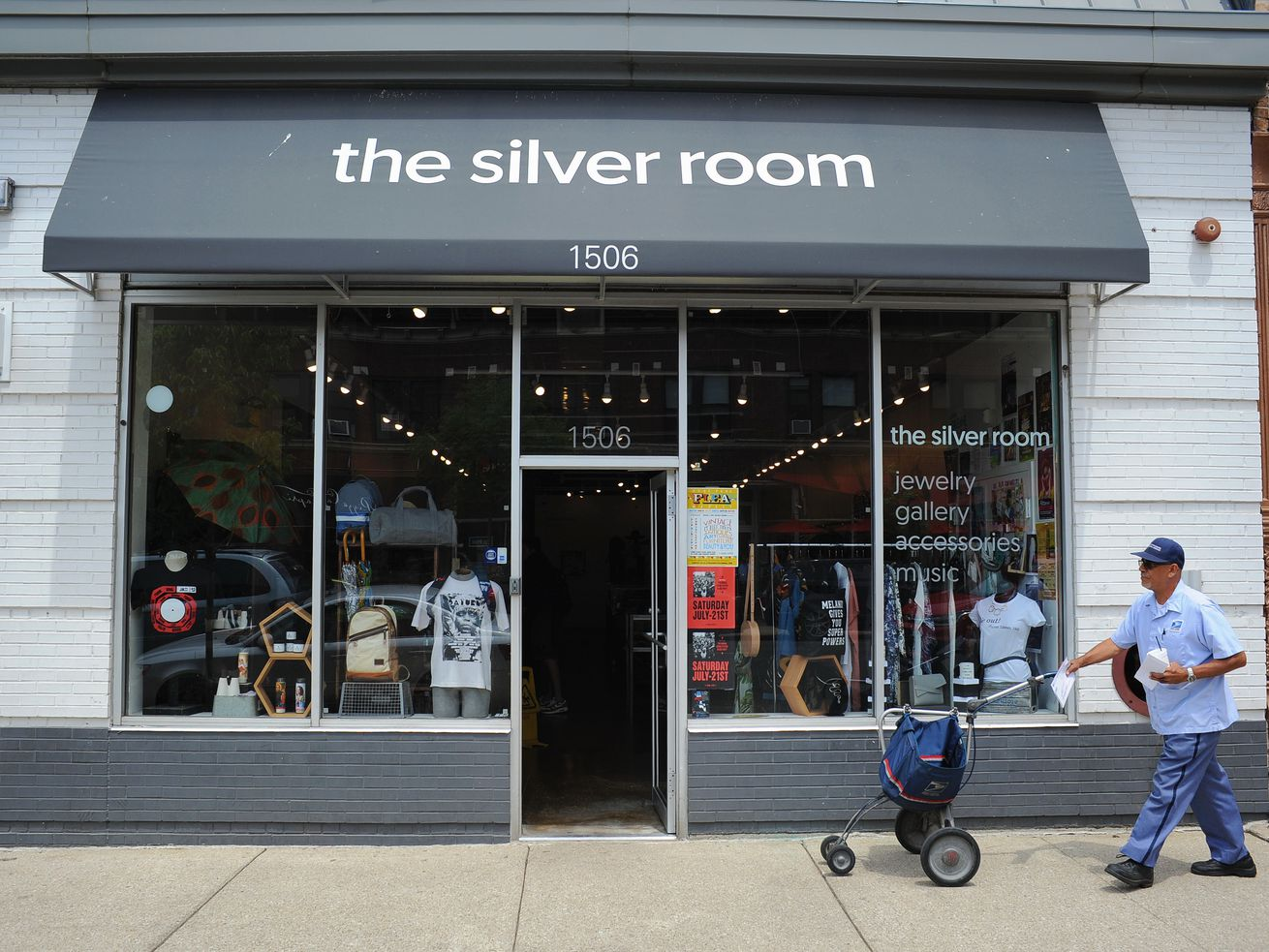 The Silver Room is a Hyde Park-based boutique specializing in creative jewelry and accessories and also hosts arts shows and music parties.